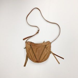 Camel Tan Lucky Brand Leather Crossbody Bag